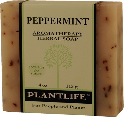 DROPPED: Plantlife Natural Body Care - Aromatherapy Herbal Soap Peppermint - 4 oz. CLEARANCE PRICED