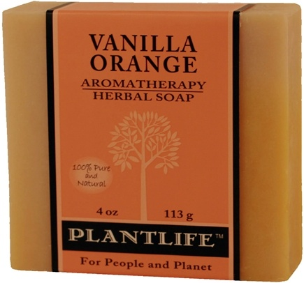 DROPPED: Plantlife Natural Body Care - Aromatherapy Herbal Soap Vanilla Orange - 4 oz. CLEARANCE PRICED