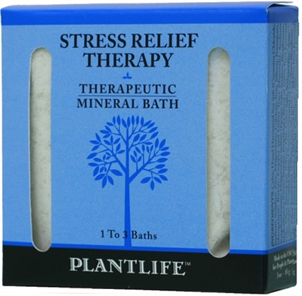 DROPPED: Plantlife Natural Body Care - Therapeutic Mineral Bath Stress Relief Therapy - 3 oz. CLEARANCE PRICED