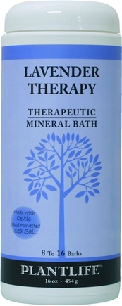 DROPPED: Plantlife Natural Body Care - Therapeutic Mineral Bath Lavender Therapy - 16 oz. CLEARANCE PRICED