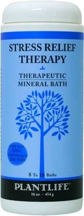 DROPPED: Plantlife Natural Body Care - Therapeutic Mineral Bath Stress Relief Therapy - 16 oz. CLEARANCE PRICED