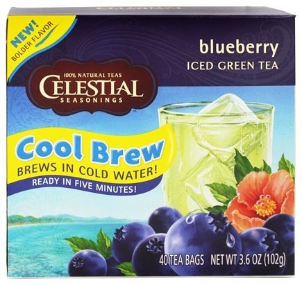 DROPPED: Celestial Seasonings - Cool Brew Iced Green Tea Blueberry - 40 Tea Bags