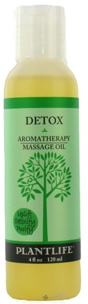 DROPPED: Plantlife Natural Body Care - Aromatherapy Massage Oil Detox - 4 oz. CLEARANCE PRICED