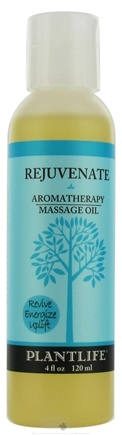 DROPPED: Plantlife Natural Body Care - Aromatherapy Massage Oil Rejuvenate - 4 oz. CLEARANCE PRICED
