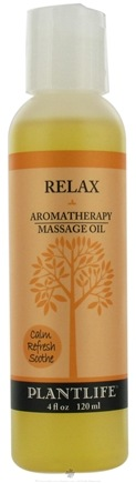 DROPPED: Plantlife Natural Body Care - Aromatherapy Massage Oil Relax - 4 oz. CLEARANCE PRICED