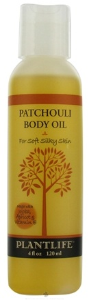 DROPPED: Plantlife Natural Body Care - Body Oil For Soft Silky Skin Patchouli - 4 oz. CLEARANCE PRICED