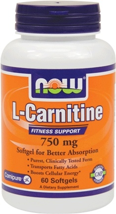 DROPPED: NOW Foods - L-Carnitine Fitness Support 750 mg. - 60 Softgels