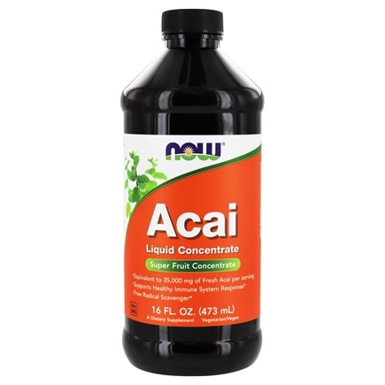 NOW Foods - Acai Super Fruit Antioxidant Liquid Concentrate - 16 oz.