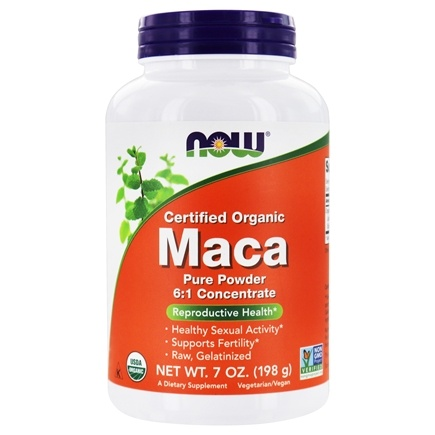 NOW Foods - Maca Pure Powder 100% Certified Organic - 7 oz.