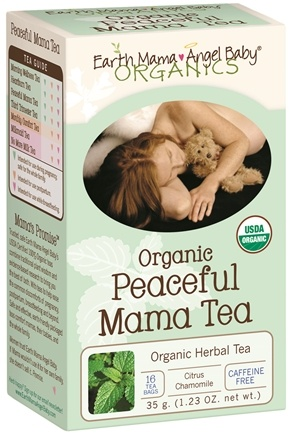 DROPPED: Earth Mama Angel Baby - Organic Peaceful Mama Tea - 16 Tea Bags