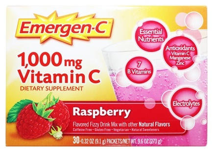 Alacer - Emergen-C Vitamin C Energy Booster Raspberry 1000 mg. - 30 Packet(s)