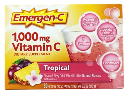 Alacer - Emergen-C Vitamin C Energy Booster Tropical 1000 mg. - 30 Packet(s)