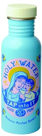 DROPPED: Blue Q - Get Real Holy Water Stainless Steel Water Bottle - 20 oz.