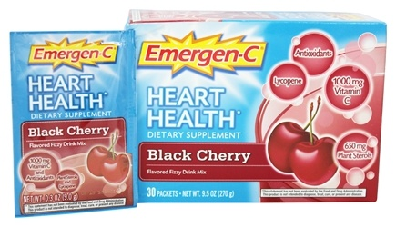 Alacer - Emergen-C Heart Health Powerful Antioxidant Formula Black Cherry 1000 mg. - 30 Packet(s)