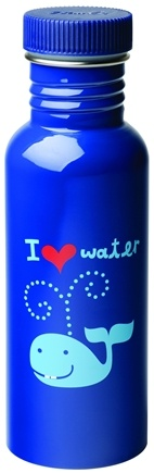 DROPPED: Blue Q - Get Real I Heart Water Stainless Steel Water Bottle - 20 oz. CLEARANCE PRICED