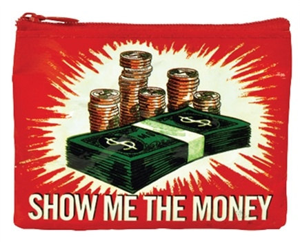 DROPPED: Blue Q - Show Me The Money Coin Purse - CLEARANCE PRICED