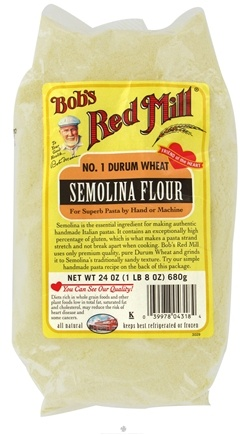 DROPPED: Bob's Red Mill - Semolina Flour - 24 oz. CLEARANCE PRICED