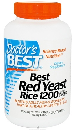 DROPPED: Doctor's Best - Best Red Yeast Rice with CoQ10 1200 mg. - 180 Tablets