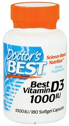 DROPPED: Doctor's Best - Best Vitamin D3 1000 IU - 180 Softgels CLEARANCE PRICED