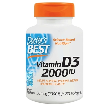 Doctor's Best - Best Vitamin D3 2000 IU - 180 Softgels