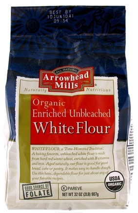 DROPPED: Arrowhead Mills - Organic Enriched White Flour Unbleached - 32 oz. CLEARANCE PRICED