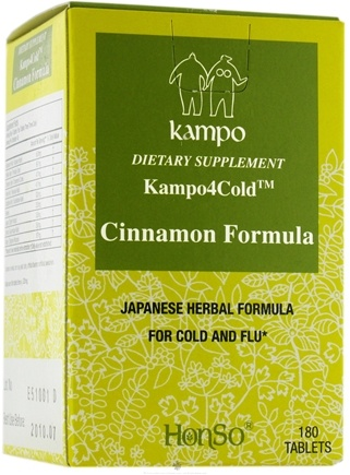 DROPPED: Honso Usa - Kampo4Cold Cinnamon Formula - 180 Tablets CLEARANCE PRICED