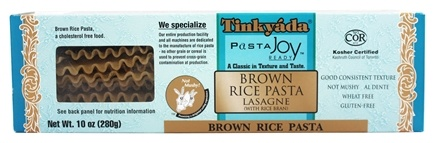 Tinkyada Pasta - Brown Rice Pasta Lasagne With Rice Bran - 10 oz.