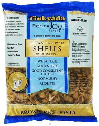 DROPPED: Tinkyada Pasta - Brown Rice Pasta Shells With Rice Bran - 16 oz. CLEARANCE PRICED