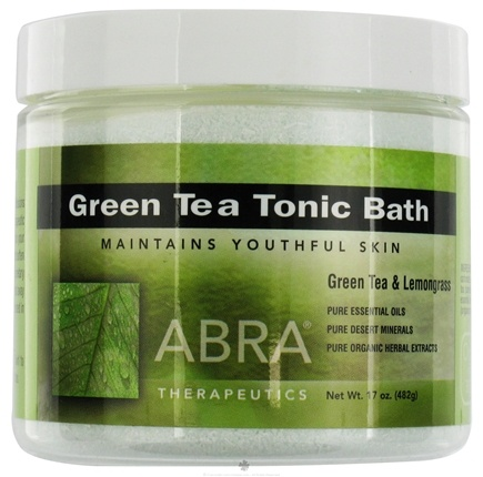 DROPPED: Abra Therapeutics - Green Tea Tonic Bath Green Tea & Lemongrass - 17 oz. CLEARANCE PRICED