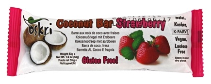 Oskri - Coconut Bar Gluten-Free Strawberry - 1.9 oz.