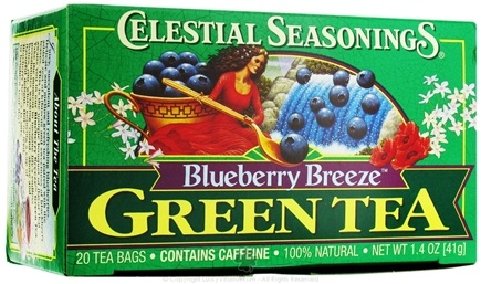 DROPPED: Celestial Seasonings - Green Tea Blueberry Breeze - 20 Tea Bags
