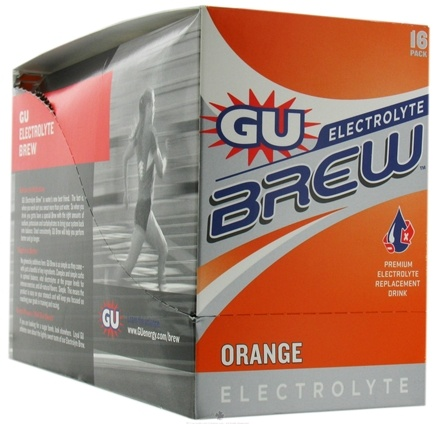 DROPPED: GU Energy - GU Electrolyte Brew Orange - 16 Packet(s) CLEARANCE PRICED