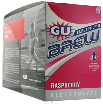 DROPPED: GU Energy - GU Electrolyte Brew Raspberry - 16 Packet(s) CLEARANCE PRICED