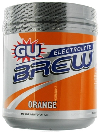 DROPPED: GU Energy - GU Electrolyte Brew Canister Orange - 910 Grams CLEARANCE PRICED