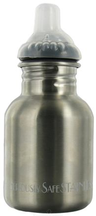 DROPPED: New Wave Enviro Products - Children's Stainless Steel Water Bottle With Sippy Cap - 12 oz. CLEARANCE PRICED