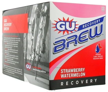 DROPPED: GU Energy - GU Recovery Brew Strawberry Watermelon - 12 Packet(s) CLEARANCE PRICED