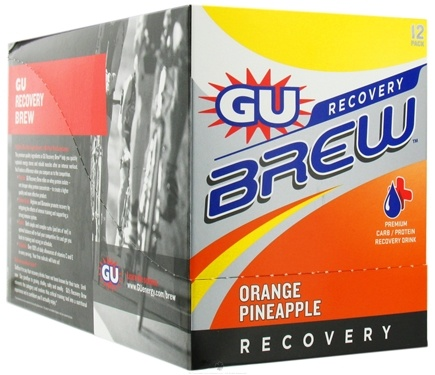 DROPPED: GU Energy - GU Recovery Brew Orange Pineapple - 12 Packet(s) CLEARANCE PRICED
