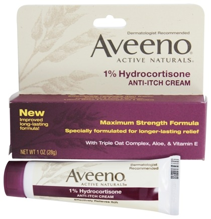 Aveeno - Active Naturals Anti-Itch Cream 1% Hyrocortisone - 1 oz.