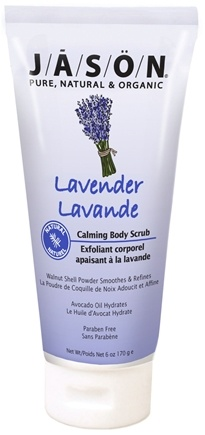 DROPPED: Jason Natural Products - Calming Body Scrub Lavender - 6 oz. CLEARANCE PRICED