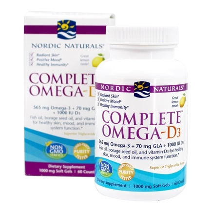 DROPPED: Nordic Naturals - Complete Omega-D3 Lemon 1000 mg. - 60 Softgels (formerly Omega-3.6.9-D)