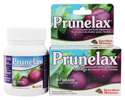 DROPPED: Prunelax - Ciruelax Dried Plum and Senna Laxative Supplement - 60 Tablets
