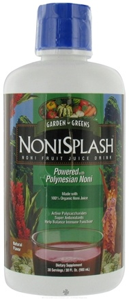 DROPPED: Garden Greens - NoniSplash - 30 oz. CLEARANCE PRICED