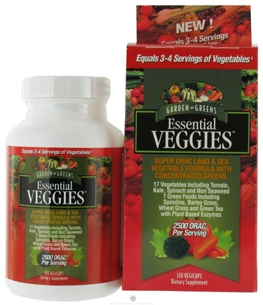 DROPPED: Garden Greens - Essential Veggies - 120 Vegetarian Capsules