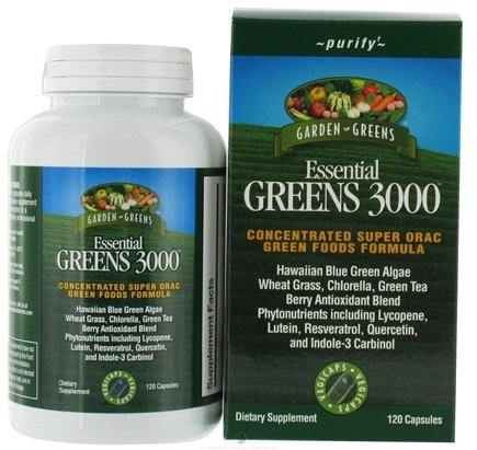 DROPPED: Garden Greens - Essential Greens 3000 - 120 Vegetarian Capsules