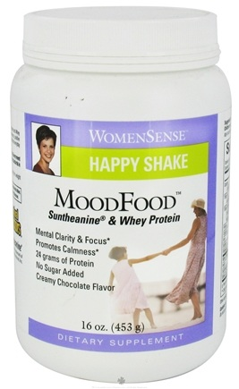 DROPPED: Natural Factors - WomenSense MoodFood Happy Shake Suntheanine & Whey Protein Chocolate - 16 oz.