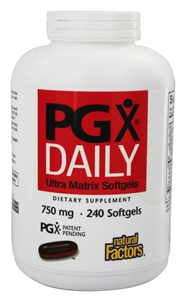 Natural Factors - PGX Daily Ultra Matrix 750 mg. - 240 Softgels