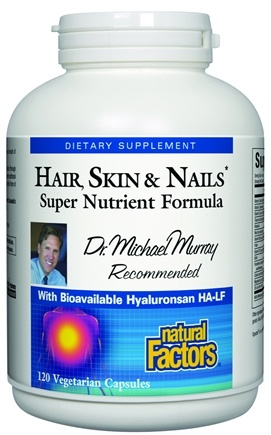 DROPPED: Natural Factors - Dr. Murray's Hair, Skin & Nails Super Nutrient Formula - 120 Vegetarian Capsules CLEARANCE PRICED