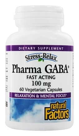 Natural Factors - Stress-Relax PharmaGABA 100 mg. - 60 Vegetarian Capsules