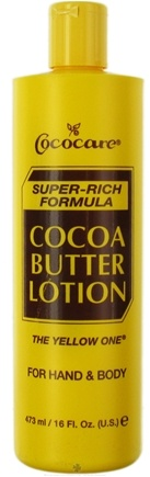 DROPPED: Cococare - Cocoa Butter Hand & Body Lotion The Yellow One Super-Rich Formula - 16 oz. CLEARANCE PRICED