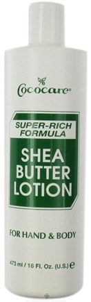 DROPPED: Cococare - Shea ButterHand & Body Lotion Super-Rich Formula - 16 oz. CLEARANCE PRICED